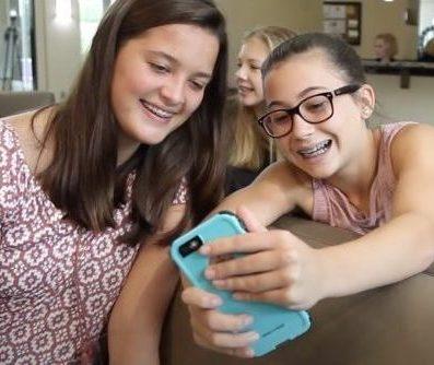Girls with Phone Selfie